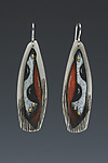 Silver & Copper Earrings by Deb Karash