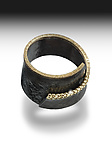 Silver, Stone and Gold Ring by Elizabeth Garvin