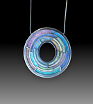 Silver & Enamel Necklace by Carly Wright