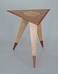 Wood Side Table by Charles Adams
