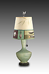 Mixed-Media Table Lamp by Janna Ugone