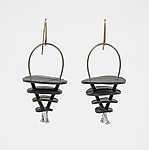 Rubber Earrings by Kathleen Nowak Tucci