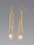 Gold & Pearl Earrings by Tana Acton