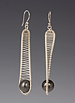 Silver & Copper Earrings by Tana Acton