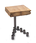 Metal & Wood Side Table by Ben Gatski