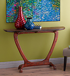Wood Console Table by Brian Fireman