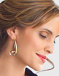 Gold & Silver Earrings by Nancy Linkin