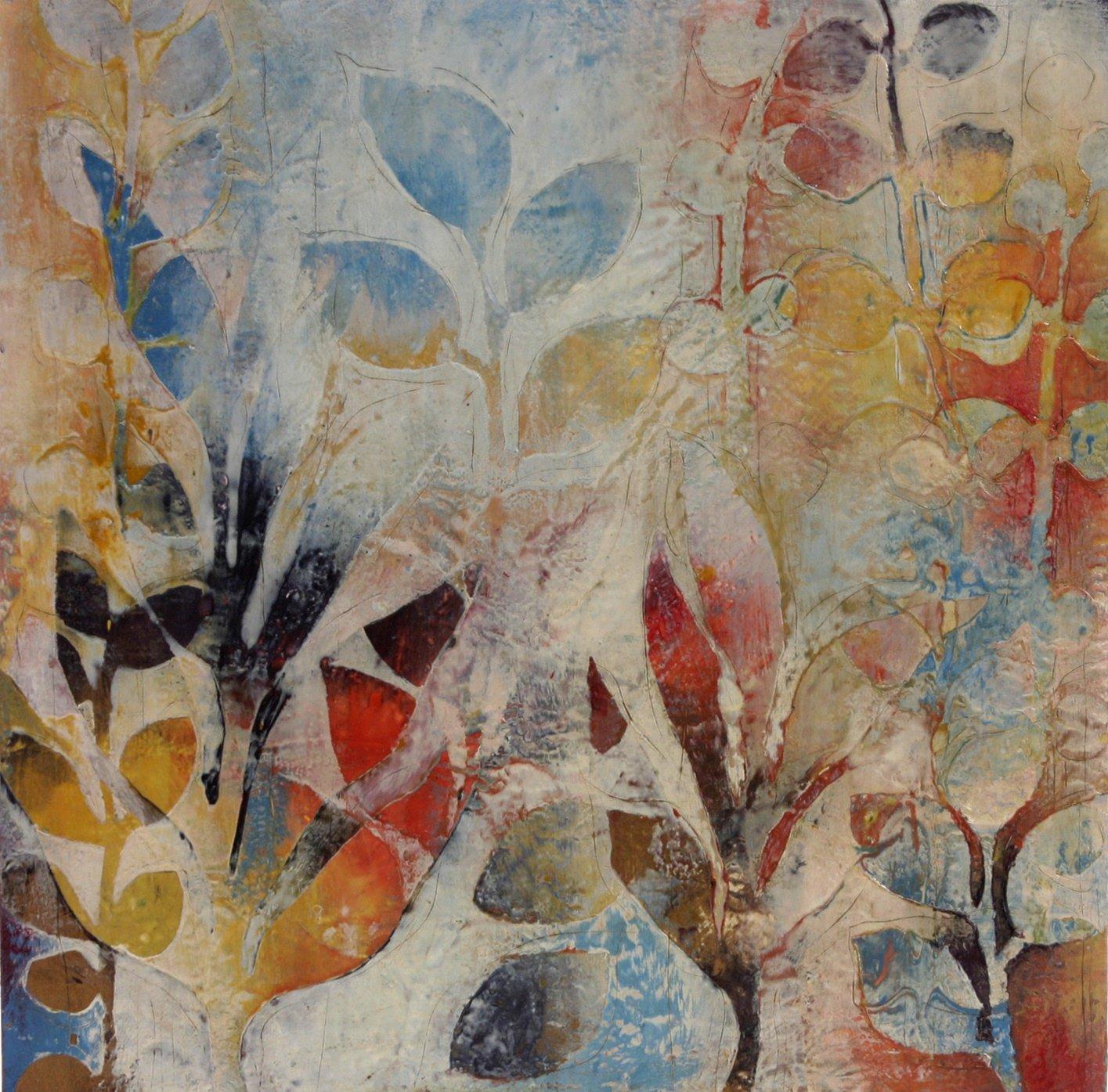 Garden Fragments A By Jody Hewitt Brimhall Encaustic