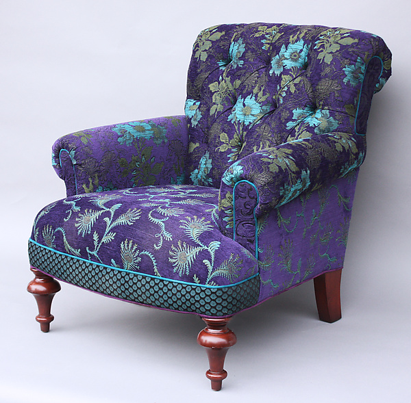 Middlebury Chair In Plum By Mary Lynn O Shea Upholstered