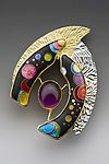 Enameled Brooch by Anna Tai