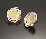 Gold & Silver Earrings by Sana  Doumet