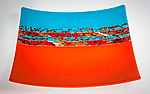 Art Glass Platter by Varda Avnisan