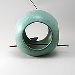 Ceramic Birdfeeder by Cheryl Wolff