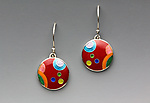 Enameled Earrings by Anna Tai