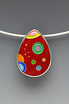 Enameled Necklace by Anna Tai