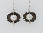 Silver & Pearl Earrings by Barbara Bayne