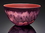 Art Glass Bowl by Jacob Vincent