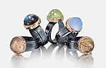 Silver & Stone Rings by Anna Whitmore