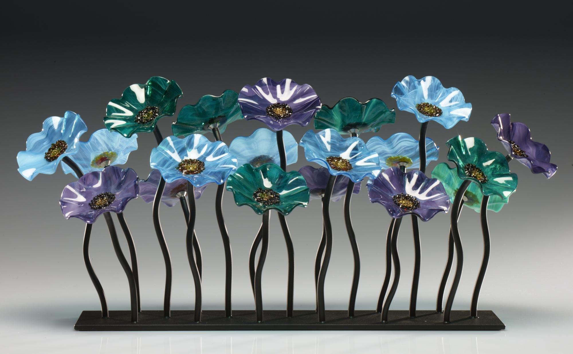 Glass flower garden by scott johnson and shawn johnson art glass