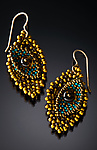 Beaded Earrings by Julie Powell