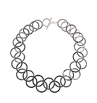 Silver & Steel necklace by Karen and James Moustafellos
