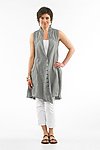Linen Vest by Cynthia Ashby