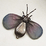 Metal Brooch by Sarah Cavender