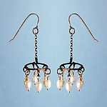 Silver & Pearl Earrings by Randi Chervitz