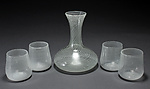 Art Glass Decanter and Glasses by Carrie Battista