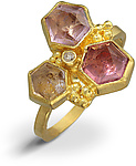 Gold & Stone Ring by Nancy Troske