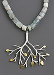 Gold, Silver, & Stone Necklace by Sarah Hood