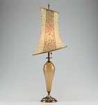 Mixed-Media Table Lamp by Caryn Kinzig