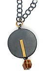 Gold, Silver & Stone Necklace by Sydney Lynch