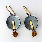 Gold, Silver, & Stone Earrings by Sydney Lynch