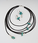 Silver, Rubber, & Stone Jewelry by Dagmara Costello