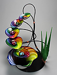 Art Glass Fountain by Tom Bloyd