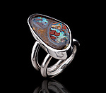 Silver & Stone Ring by Diana Widman