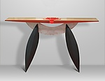 Wood & Glass Console Table by Erik Wolken