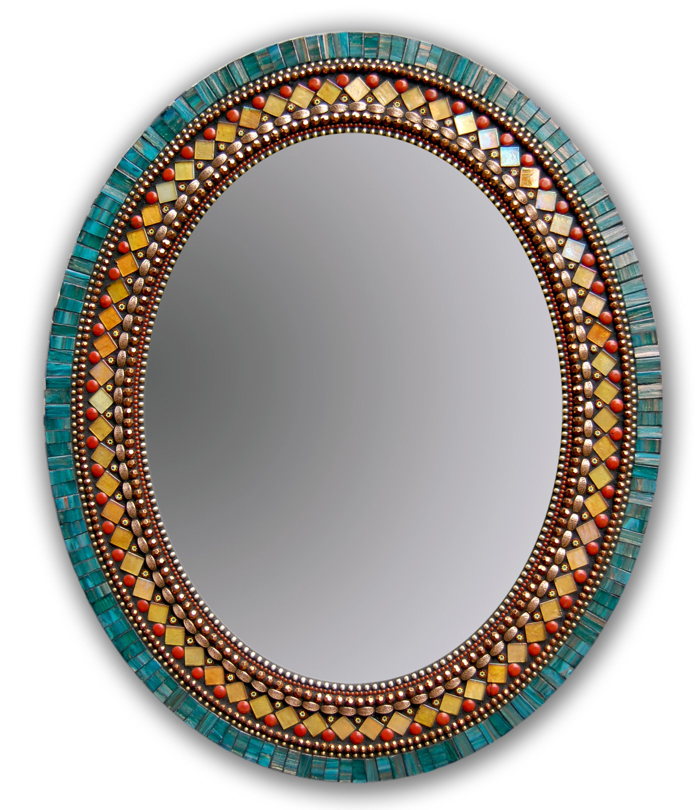 Butterfly mirror by angie heinrich mosaic mirror for Mosaic mirror