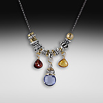 Silver & Stone Necklace by Suzanne Q Evon