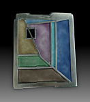 Enameled Brooch by Carly Wright