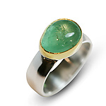 Gold, Silver, & Stone Ring by Nancy Troske