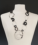 Steel & Rubber Necklace by Kathleen Nowak Tucci
