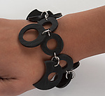 Steel & Rubber Bracelet by Kathleen Nowak Tucci