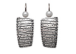 Silver Earrings by Tom McGurrin