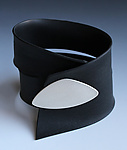 Silver & Rubber Cuff by Shellie Bender