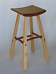 Wood Stool by Steven M. White
