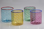 Art Glass Tumblers by Robert Dane