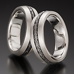 Silver & Steel Wedding Band by Robin Cust