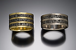 Gold & Steel Wedding Band by Robin Cust
